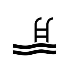 Swimming pool icon vector