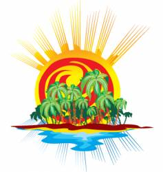 tropical sunrise vector image