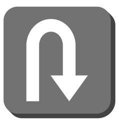 Turn Back Rounded Square Icon vector