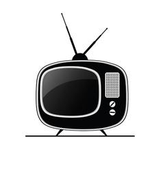 tv antique black vector image vector image