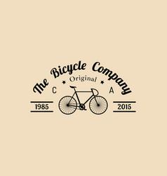 vintage hipster bicycle logo modern vector image