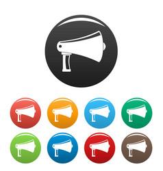 vintage megaphone icons set color vector image