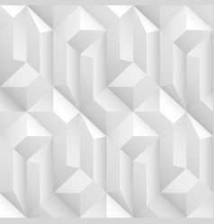 white and gray decorative geometric texture vector image
