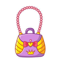 with female doll handbag nice vector image