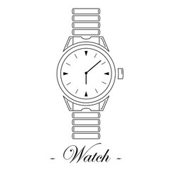 With the watch vector