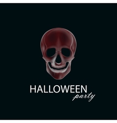 A human skull halloween party poster flyer or vector
