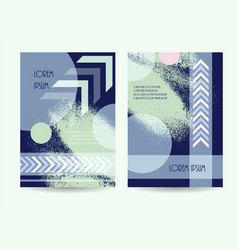 Business brochure green blue color design vector