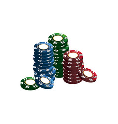 casino chips stacks pile poker image vector image