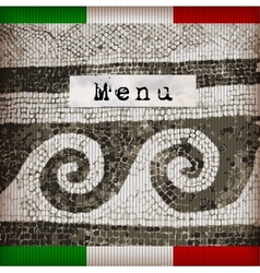 Dark brown marble-stone mosaic menu vector image vector image
