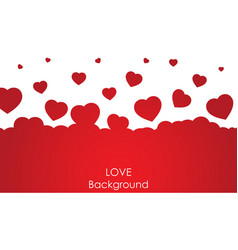 flying heart background love valentine day vector image vector image