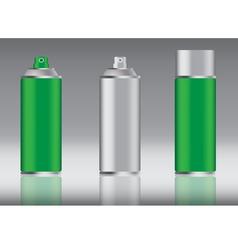 green spray can vector image