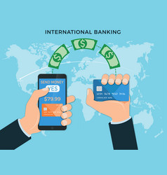 money transfer international banking payment vector image vector image