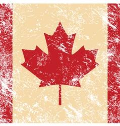 Canada retro flag vector image vector image