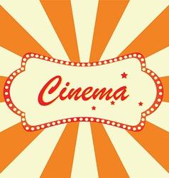 Cinema billboard vector image