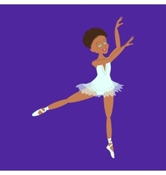 Cute little ballerina vector image