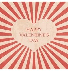 Happy Valentines day card Vintage vector image vector image