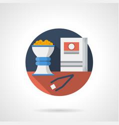 hookah tobacco color detailed icon vector image vector image