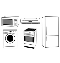 house appliances collage vector image vector image