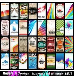 vintage cards vector image vector image