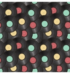 vinyl records seamless background vector image