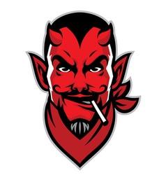 Devil rider head mascot vector