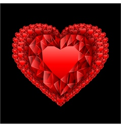 heart from many rubies vector image vector image