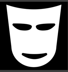 Theater mask the white color icon vector