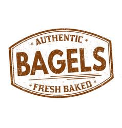 bagels grunge rubber stamp vector image vector image