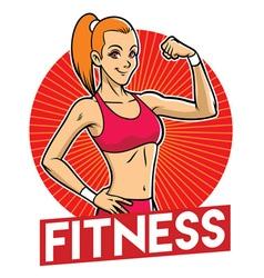 Girl gym mascot vector