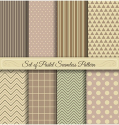 Set of pastel seamless pattern vector