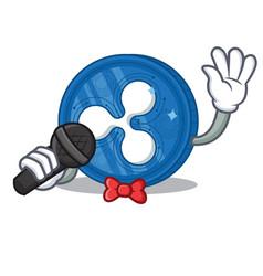 Singing ripple coin character cartoon vector