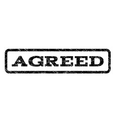 Agreed watermark stamp vector