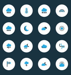 Air colorful icons set collection of moonshine vector