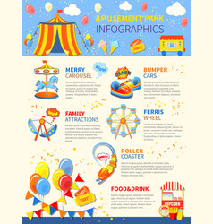 Amusement park potential infographics layout vector