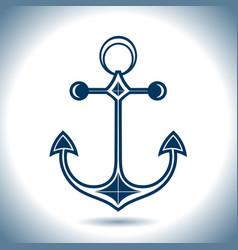 Anchor icon nautical theme vector