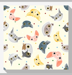 Animal seamless pattern collection with cat 1 vector image