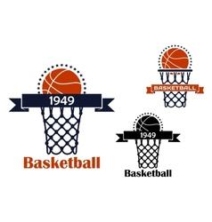 Basketball sport game emblem or symbol vector