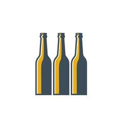 Beer Bottles Retro vector image