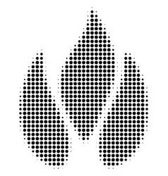 Black dot fire icon vector
