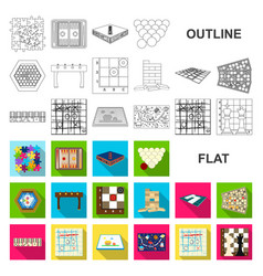 Board game flat icons in set collection for design vector