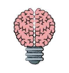 Buld brain idea creativity knowledge vector