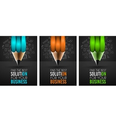 Business Success Concept with Doodle design style vector image