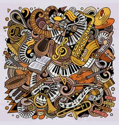 Cartoon doodles classic music vector