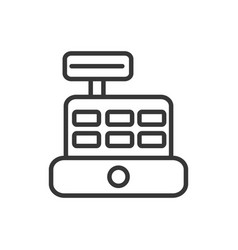 Cash register machine finance bank money icon vector