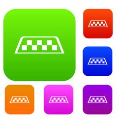 Checker taxi set collection vector