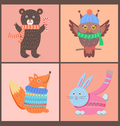 collection of cute posters on vector image