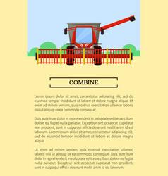 Combine machine field poster vector