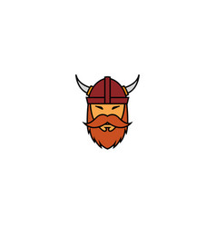 creative viking head logo vector image