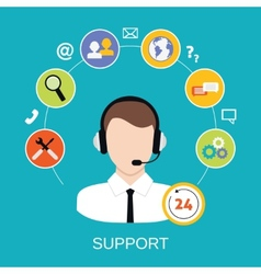 Customer Support Service vector