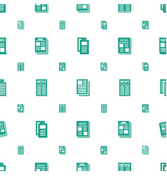 Daily icons pattern seamless white background vector